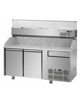 Sheffcat 2 Doors Refrigerated Pizza Counter 1 Draw