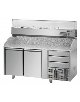 Sheffcat 2 Doors Refrigerated Pizza Counter 3 Draw