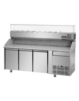 Sheffcat 3 Doors Refrigerated Pizza Counter 1 Draw