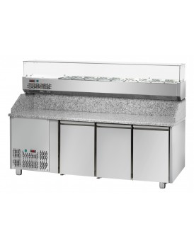 Sheffcat 3 Doors Refrigerated Pizza Counter 0 Draw