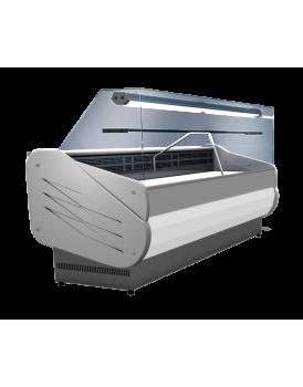 Sheffcat SALINA80/100VCC Flat Glass Serveover Counter, 1m / 0.6m² Deck